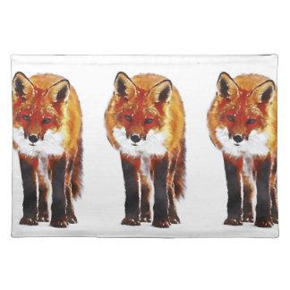 fox Tischset, den Fuchs, der Waren, Fuchsgeschenk Stofftischset