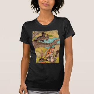 Fox u. Rabe von Äsops Fabeln T-Shirt
