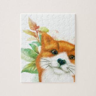 Fox und Rosen Puzzle