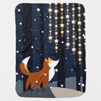 Fox und Schnüre des Sternes beleuchtet im Kinderwagendecke
