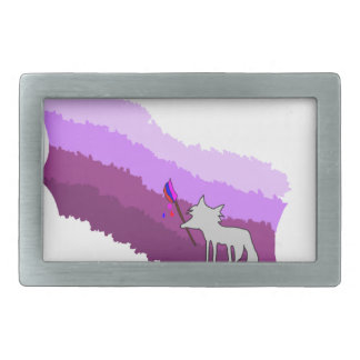 Fox von Farben Rechteckige Gürtelschnalle
