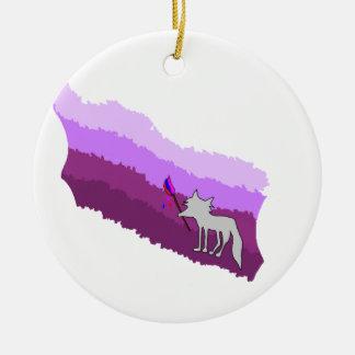 Fox von Farben Rundes Keramik Ornament