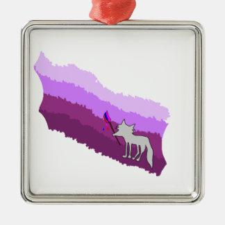 Fox von Farben Silbernes Ornament