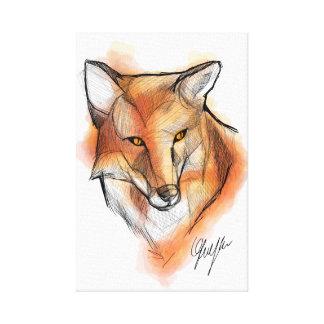 Fox WallArt Leinwanddruck