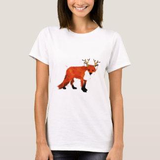 Fox-Wasserfarbe T-Shirt