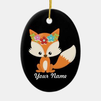 Fox-Weihnachtsbaum-Dekor Keramik Ornament