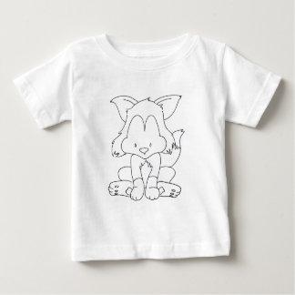 Fox, zum - renard colourize ein colorier baby t-shirt