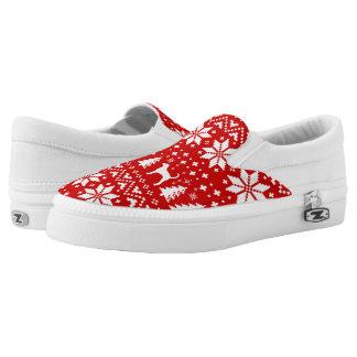 Foxhound-Silhouette-Weihnachtsstrickjacke-Muster Slip-On Sneaker