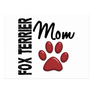 Foxterrier-Mamma 2 Postkarte