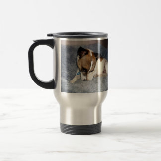 Foxterrier, oh so schüchtern, Reise-Kaffeetasse Reisebecher