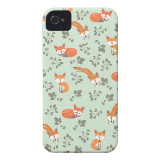 Foxy Blumenmuster iPhone 4 Etuis