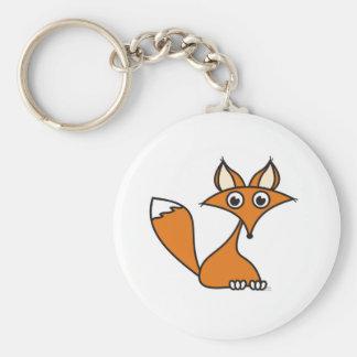 Foxy Cartoon Standard Runder Schlüsselanhänger
