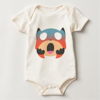 foxy emoji baby strampler