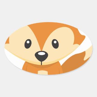 Foxy Fuchs Ovaler Aufkleber