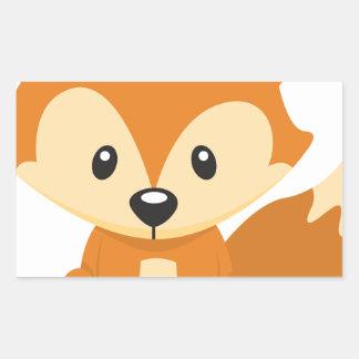 Foxy Fuchs Rechteckiger Aufkleber