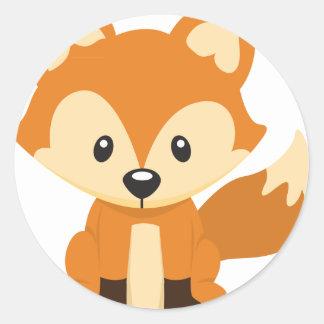 Foxy Fuchs Runder Aufkleber