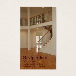 Foyer im Neubau-Zuhause mit Treppenhaus Visitenkarte