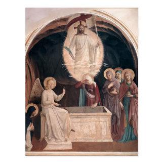 Fra Angelico-Auferstehung von Christus, Frauen am Postkarte