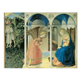 Fra Angelico - die Ankündigungs-Postkarte Postkarte