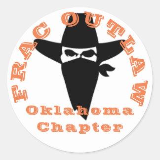 Frac geächteter Oklahoma-Kapitelaufkleber Runder Aufkleber