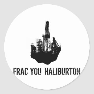 frac Sie Haliburton Runder Aufkleber