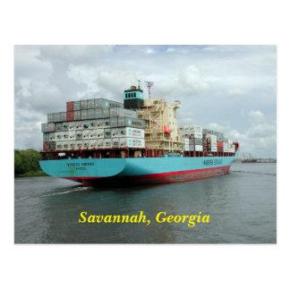 Fracht-Containerschiff Postkarte