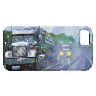 Fracht-Lastwagen-Fracht-Fernlastfahrer iPhone 5 Tough iPhone 5 Hülle