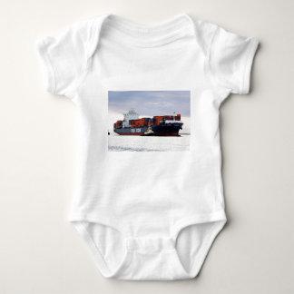 Frachtschiff 2, Hafen Adelaide, Südaustralien Baby Strampler