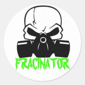 FRACINATOR RUNDER AUFKLEBER