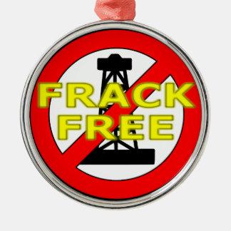 Frack geben Großbritannien frei Silbernes Ornament