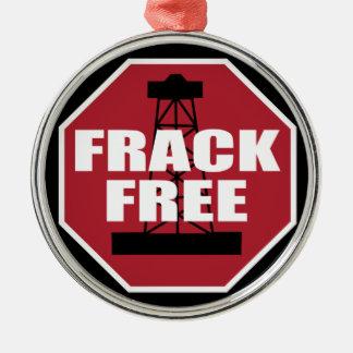 Frack geben USA frei Silbernes Ornament