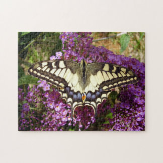 Frack-Schmetterlings-Foto-Puzzlespiel mit Puzzle