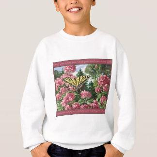 Frack-Schmetterlings-Rosa-Blumen-Garten-Malerei Sweatshirt