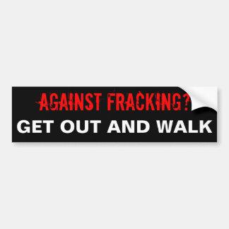 Fracking Autoaufkleber, schwarz Autoaufkleber