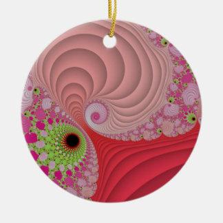 Fractal spirals rundes keramik ornament