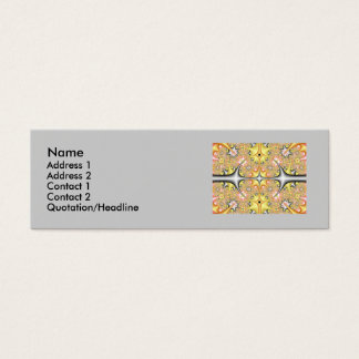 fractalcard, Name, Adresse… Mini Visitenkarte