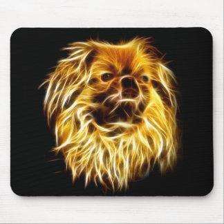 Fractalius pekingese Hund Mauspads