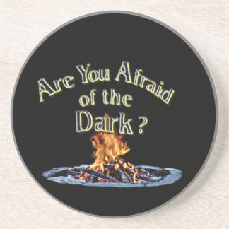 Frage ist sind Sie ängstlich von der Dunkelheit Sandstein Untersetzer