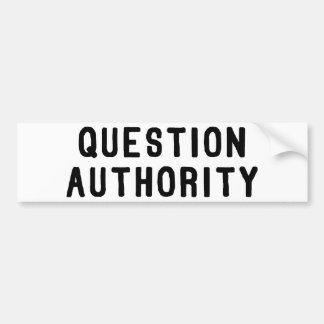 Fragen-Berechtigung Autoaufkleber