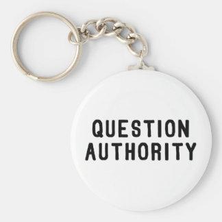 Fragen-Berechtigung Standard Runder Schlüsselanhänger