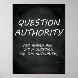 Fragen-Berechtigungs-Slogan Poster