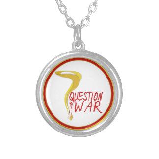 Fragen-Kriegs-Silber-Anhänger-Halskette