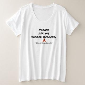 Fragen Sie, bevor Sie die chronischen Schmerz plus Große Größe T-Shirt