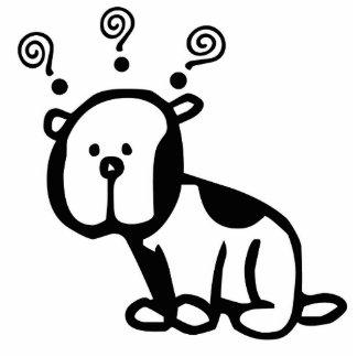 Fragen Sie den Hund für Ihren Schreibtisch! Freistehende Fotoskulptur