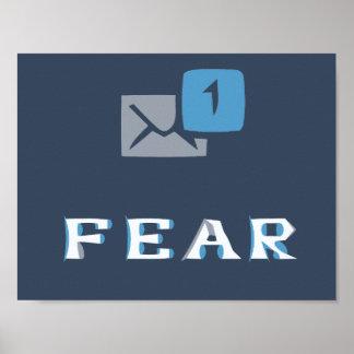 Fragen Sie Furcht-Plakat 8x11 Poster
