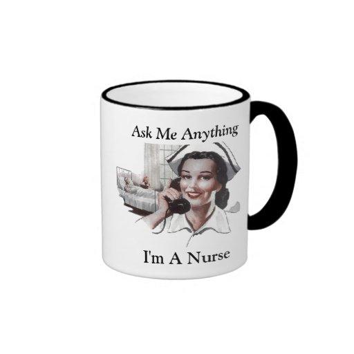 Fragen Sie mich allen - ich bin eine Krankenschwes Haferl