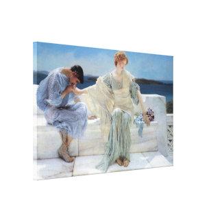 Fragen Sie mich nicht mehr durch Alma Tadema, Leinwanddruck