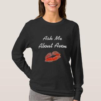 Fragen Sie mich über Avon-Shirt - schwarze lange T-Shirt