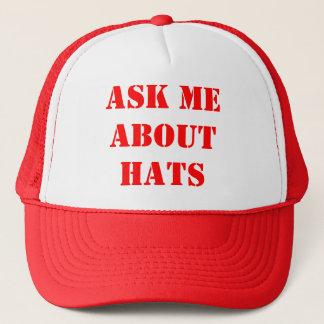 Fragen Sie mich über Hüte Truckerkappe