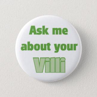 Fragen Sie mich über Ihre Darmzotten Runder Button 5,7 Cm